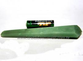 Bi Terminado Quartzo Verde Pedra Natural Lapidado Cod 101878