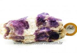 Chevron Extra Pedra Mineral Bruto Para Colecionador Familia Ametista Cod 272.4