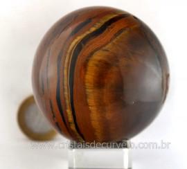 Esfera de Olho de Tigre Bola Mineral Origem Africa Lapidação Curvelo Cod 414.6