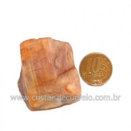 Aragonita Vermelho Pedra Bruto Mineral Natural Cod 123321