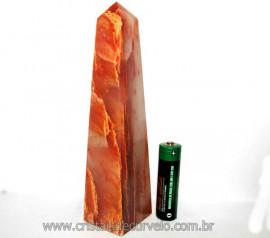 Obelisco Aragonita Vermelho Pedra Natural Mineral Cod OA3910