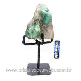 Esmeralda Canudo Pedra Natural com Suporte De Ferro Cod 121532
