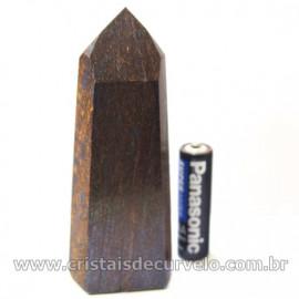 Ponta Bronzita Pedra Lapidado Gerador Sextavado Cod 127027
