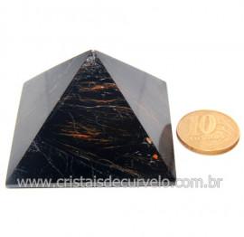 Pirâmide Turmalina Preta Natural Baseada Quéops Cod 119523