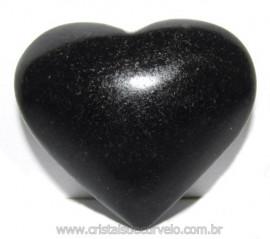 Coraçao Quartzo Preto Quartzito Negro Natural Cod 115332