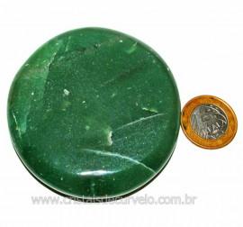Massageador Disco Quartzo Verde Pedra Natural Cod 103290