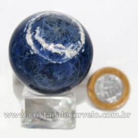 Esfera Sodalita Azul Bola Pedra Natural Garimpo Cod 126913