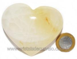 Coração Hematoide Amarelo Natural Presente Ideal Cod 116032