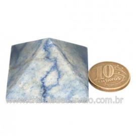 Piramide Pedra Quartzo Azul Medida Baseada Queops Cod 128419