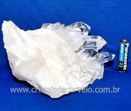 Drusa Cristal Natural Pedra Grande Boa Qualidade Cod 123621