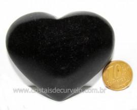 Coração Quartzo Preto Quartzito Negro Pedra Natural Cod CP6254