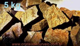 BRONZITA Pedra Bruto Pra Lapidar Pacote Atacado 5 kg