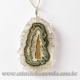 Pingente Flor de Ametista Pedra Natural Garra Prateado 112919