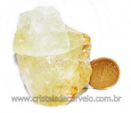 Citrino Bombardeado Pedra Bruta Ideal P/ Coleção Cod 104683