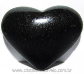 Coraçao Quartzo Preto Quartzito Negro Natural Cod 115335