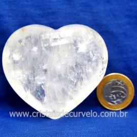 Coração Cristal Comum Qualidade Natural Garimpo Cod 127993