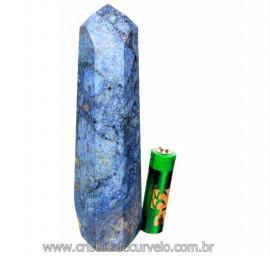 Ponta Dumortierita Pedra Natural Gerador Sextavado Cod PD8759