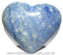Coração Quartzo Azul Pedra Natural de Garimpo Cod 114987