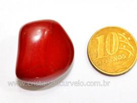 01 Jaspe Vermelho Rolado Pedra Natural de Garimpo Esoterismo Colecionador Reff 11.7