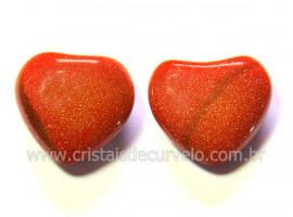 Par Coração Pedra do Sol Para Montagem Brinco Reff CB3114