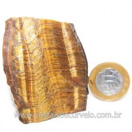 Olho de Tigre Pedra Extra Bruto Natural da África Cod 121217
