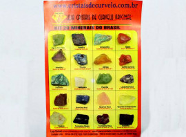 Kit 20 Minerais do Brasil Pedras Naturais para Colecionador ou Estudo Geológico Reff 44.1