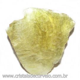 Chapa de Mica Amarela Bruta Natural de Garimpo Cod 115597