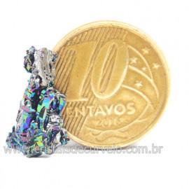 Sílicio Arco-Íris Natural no Estojo Para Colecionar Cod 123366