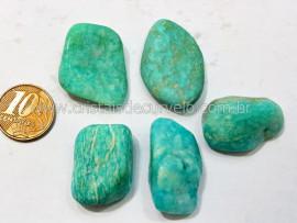 05 Amazonita Rolado Pedra Natural de Garimpo Esoterismo Colecionador Reff 49.5