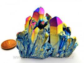 Drusa Crystal Aura Arco-Iris ou Titaniun Bruto Cod AI8291