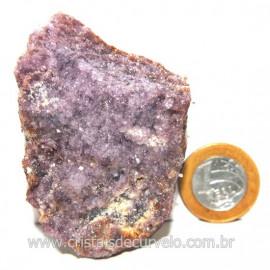 Lepidolita Mica Natural Mineral P/Colecionador Cod 124265