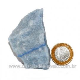 Quartzo Azul ou Aventurina Azul Bruto Natural Cod 123186