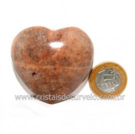 Coração Amazonita Pêssego Pedra Natural de Garimpo Cod 119059