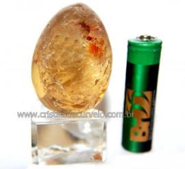 Ovo Pedra Citrino Natural Quartzo Não Bombardeado Cod 110580
