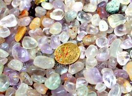 1kg Ametista Rolado Miudo Pedra Natural de Garimpo Reff AM7876