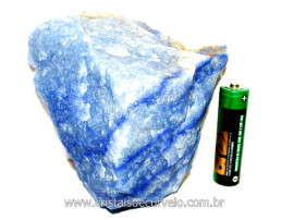 Quartzo Azul ou Aventurina Azul Pedra Bruto Natural Cod QA4693