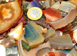 1kg Cascalho Agata  Pedra Bruto Mista Pra Orgonite Reff CA8880