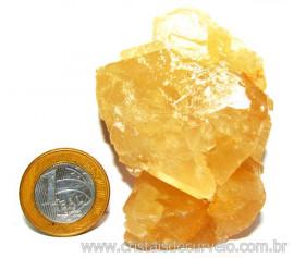 Calcita Mel Pedra Natural P/ Coleção e Esoterismo Cod 110310
