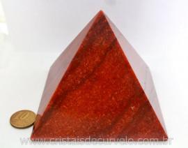 Piramide Quartzo Vermelho Baseada Queops Pedra Comum Lapidado Manual Cod 682.5