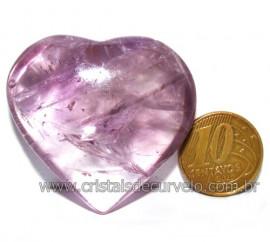 Coraçao Ametista Pedra Natural Ideal P/Presentear Cod 116124