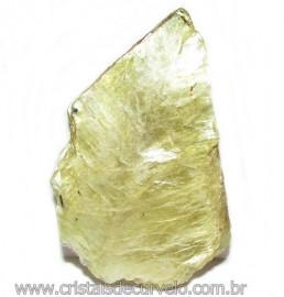 Chapa de Mica Amarela Bruta Natural de Garimpo Cod 115590