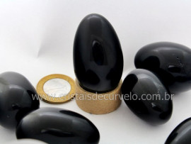 Ovo YONI Pedra Obsidiana Negra Ideal Pompoarismo Sem Furo LEIA TODO ANUNCIO REFF 77.8