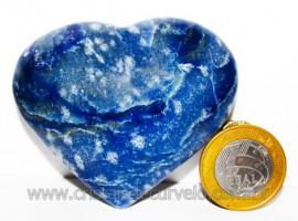 Coração Quartzo Azul Pedra Natural de Garimpo Cod 104620