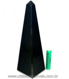 Obelisco Obsidiana Negra Pedra Vulcânica Natural Cod 106787