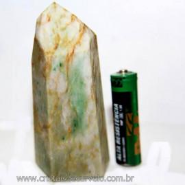 Ponta Nefrita Lapidado Pedra Natural de Garimpo Cod 101477