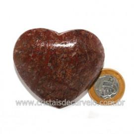 Coração Pedra Quartzo Jiboia Natural Lapidação manual Cod 118993