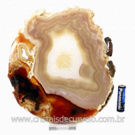 Chapa de Agata Natural Porta Frios Bandeja Pedra Natural 123492