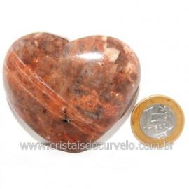 Coração Amazonita Pêssego Pedra Natural de Garimpo Cod 119049