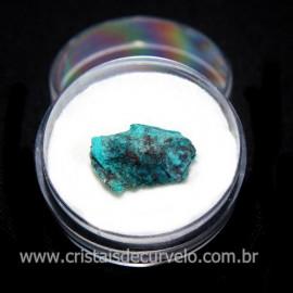 Crisocola Bruto Lasca No Estojo Mineral Natural Cod 118509
