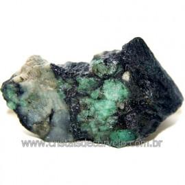 Esmeralda Canudo Incrustado no Xisto Pedra Bruta Cod 109952